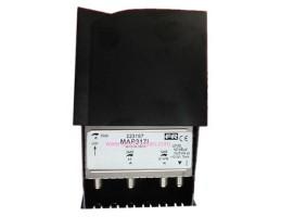 Amplif. 3-IN BI/FM-VHF-UHF 12,24,33 DBS 12/24V