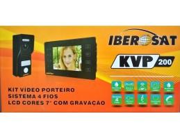 """Kit Videoporteiro Iberosat 7"""" Cores, C/Gravação"""